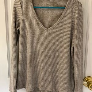 gray ribbed long-sleeved from american eagle